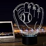 3D Lamp Illusion Baseball Glove Model Night Lamp for Kids Holiday Toy Gift (Baseball glove)