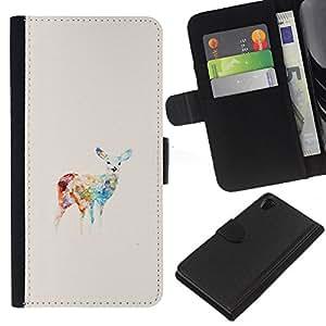All Phone Most Case / Oferta Especial Cáscara Funda de cuero Monedero Cubierta de proteccion Caso / Wallet Case for Sony Xperia Z2 D6502 // Colors Pastel Drawing Animal
