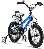 RoyalBaby Kids Bike Boys Girls Freestyle Bicycle 12 14 16 Inch with Training Wheels, 16 18 20 with Kickstand C