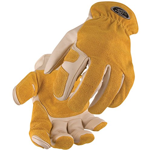 BLACK STALLION Split Cowhide Reinforced Kevlar Stitched Driver's Gloves 97SW LG (Welding Black Gloves Stallion)