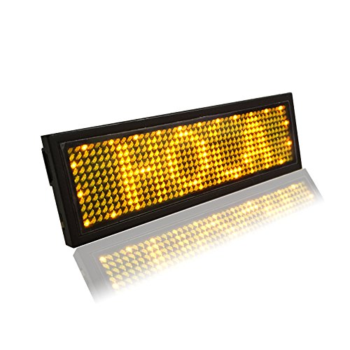 Amber Color Ultra Bright LED Rechargeable Name Badge Clubbing Party LED XuanYue B1248Y