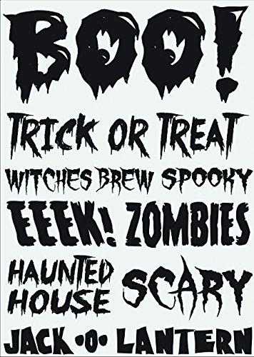 Little B 100759 Rub Ons, Boo Halloween Phrases ()