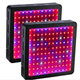 GOWE 2PCS 1200W Double Chips LED Grow Light Full Spectrum For Indoor Plants and Flower Phrase led Lights For Growing