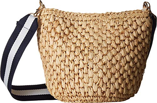 Hat Attack Women's Couple Crossbody with Additional Stripe Strap Natural One Size
