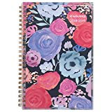 AT-A-GLANCE Academic Weekly / Monthly Planner, July 2018 - June 2019, 4-7/8' x 8', Customizable, Midnight Rose (1101-201A)