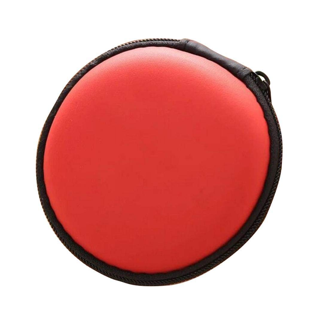 Oldhorse Bolso Resistente pr/áctico del Almacenamiento del Auricular de la Prensa de la Forma Redonda port/átil con la Red Packs de Accesorios