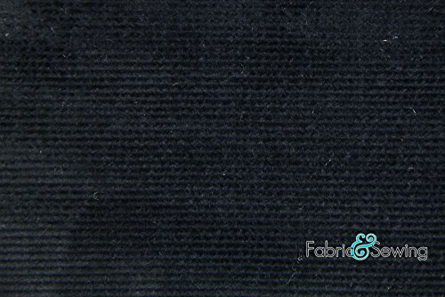 (Black 16 Wale Corduroy Fabric 4 Way Stretch Cotton Spandex Lycra 7 Oz 58-60