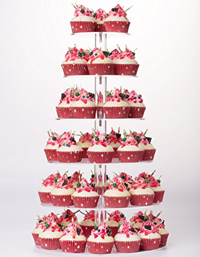 YestBuy 6 Tier Maypole Round Wedding Party Tree Tower Acrylic Cupcake Display Stand ¡­