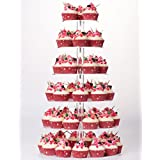 YestBuy 6 Tier Maypole Round Wedding Party Tree Tower Acrylic Cupcake Display Stand
