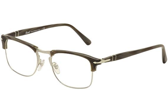Persol PO8359V Eyeglass Frames 1045-51 - Dark Horn PO8359V-1045-51 ...