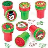 """Selbstfärbende Stempel """"Weihnachten"""" für Kinder – Bastelmaterial zum kreativen Gestalten und Spielen für Kinder zu Weihnachten (10 Stück)"""