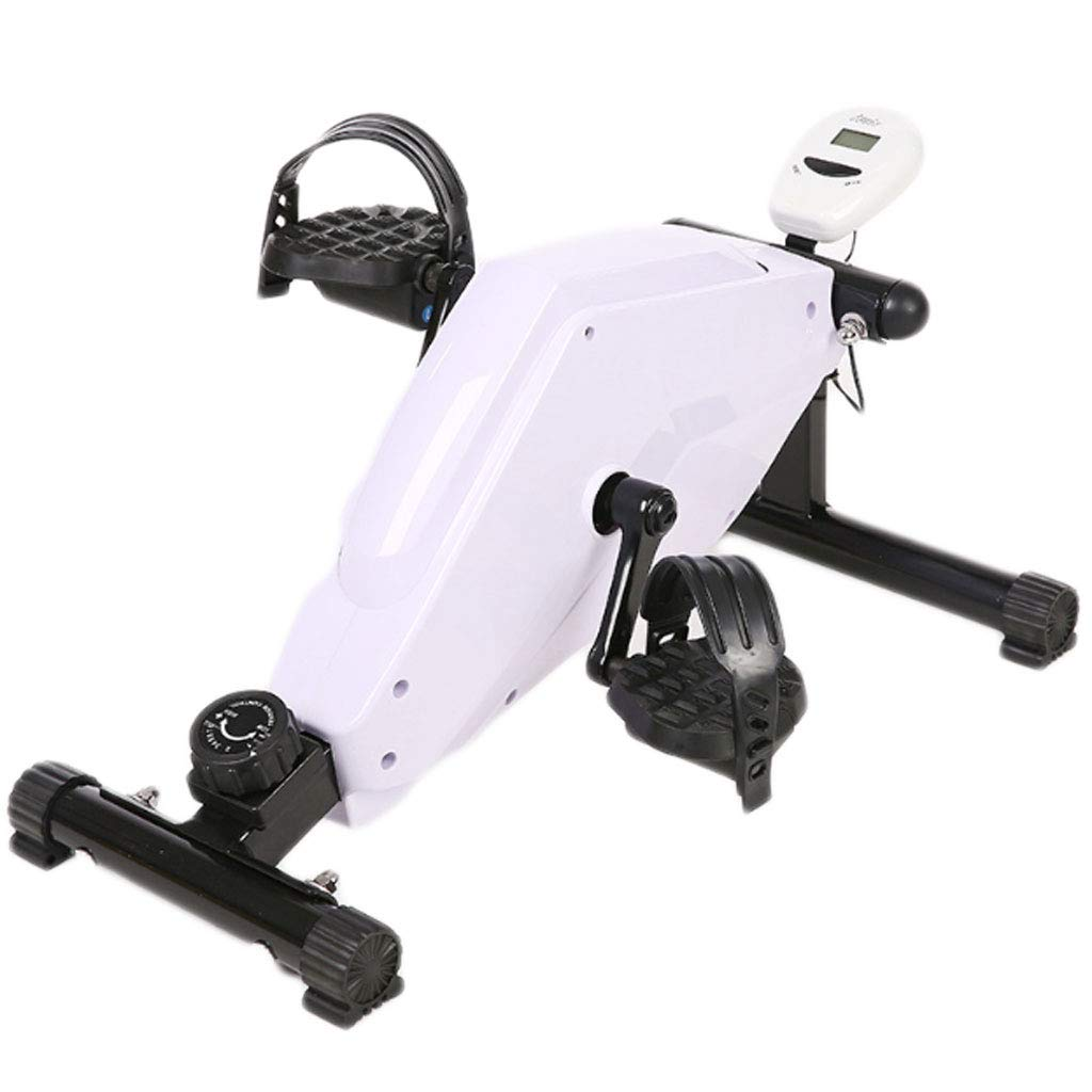 HAOHAOWU Mini Bicicleta estática, pedaleador, Brazo y Pierna con Pantalla LCD Digital/Perilla de Resistencia Ajustable para Interiores portátil