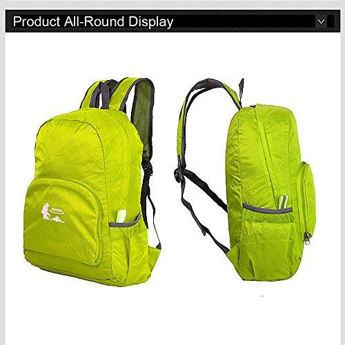 Ranbow Outdoor Backpack Gourd Shaped Travel Daypack Large Light Rucksack 25L, Orange