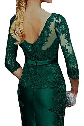 Aermeln Spitzenkleider Violett Brautmutterkleider Hochwertig Abendkleid V Ausschnitt Damen Mit Ivydressing wqZB0Iz
