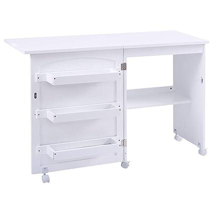 Sewing Table On Wheels.Amazon Com Lhone Portable Folding Sewing Machine Craft Cart