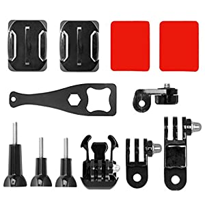 Shoresu Quick Release Base Plate,2, 12 in 1 Action Camera Helmet Side Mount Kit Adhesive Mount Accessories for GoPro