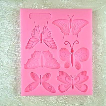 Vivin formado mariposa del molde del silicón de la estera por Decoración de Pasteles, magdalenas, Sugarcraft y Caramelos: Amazon.es: Hogar