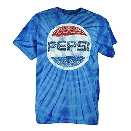 Pepsi Cola Tie Dye Bandana Paisley Logo Blue Tshirt Tee Distressed Mens Medium