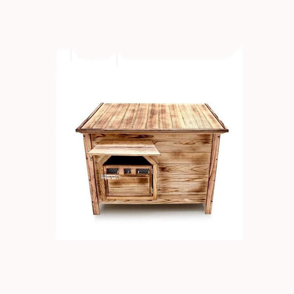 Medio Sin puerta sin ventana Al aire libre interior plano superior de carbón de madera casa de perro casa de perro arena para gatos jaula de perro mascota ...
