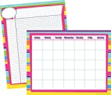 Barker Creek Happy Chart Set with 17 x 22'' Blank Calendar and Incentive Chart (LL-574)