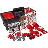 Brady Personal Breaker Lockout Toolbox Kit, Includes 3 Steel Padlocks