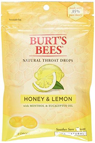 - Burt's Bees Burt's Bees Natural Throat Drops Honey and Lemon - 20 Drops,Pack of 1