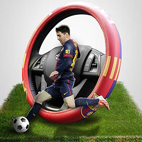 - eing Car Steering Wheel Cover Football Team Universal 15 Inch Steering Wheel Cover - Barcelona Team 02