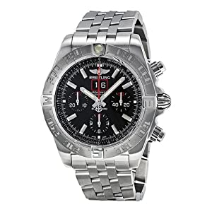 Breitling Men's BTA4436010-BB71SS Chronomat Blackbird Analog Display Swiss Automatic Silver Watch