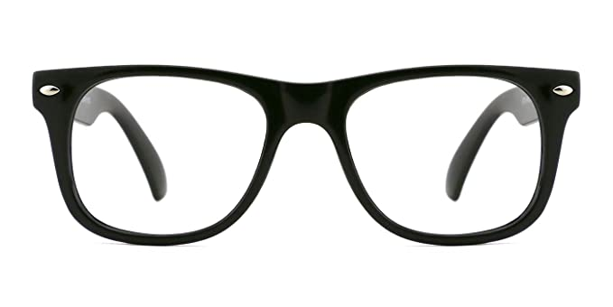 48dec1286c95 TIJN Safety Eyewear Cute Blue Square Eyeglasses Glasses with Clear Lens for  Kids Boys Girls (