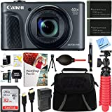 Cheap Canon PowerShot SX730 HS 20.3MP 40x Optical Zoom Digital Camera (Black) (1791C001) + Two-Pack NB-13L Spare Batteries + Accessory Bundle