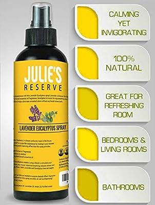 Lavender Air Freshener Mist Spray 100% Natural, Home, Bedroom, Linen, Essential Oil Blend Odor Eliminator