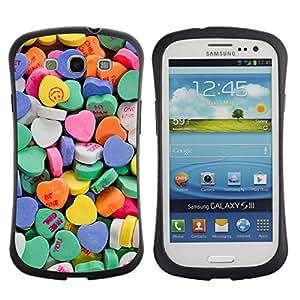 Suave TPU GEL Carcasa Funda Silicona Blando Estuche Caso de protección (para) Samsung Galaxy S3 I9300 / CECELL Phone case / / Heart Candy Valentines Sweets Love /