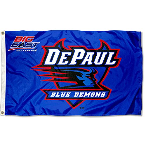 College Flags and Banners Co. DePaul Big East Flag Large 3x5
