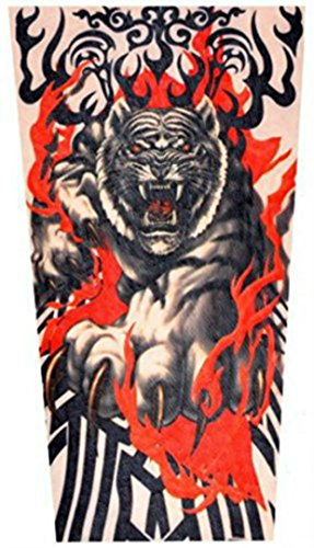 Childrens' Tattoo Sleeves (x2) - Coolest Neoprene Tattoo Sleeves for Sun Protection and Being Tough (Tiger Fury)