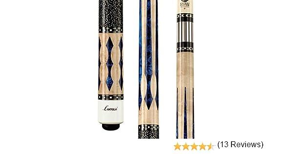 Lucasi Custom Super Extraordinaria Taco de Billar con Incrustaciones Azul Luster: Amazon.es: Deportes y aire libre