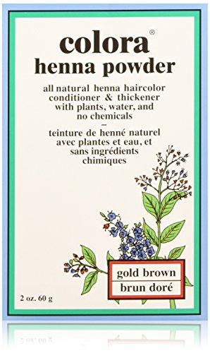 Colora Henna Powder, Gold Brown