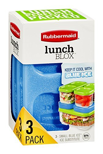 Rubbermaid LunchBlox Modular Food Storage Containers, Blue Ice Reusable Ice Pack, Small, Single (1857118) Style: Blue Ice Reusable Ice Pack Model: 1857118 (Home & Kitchen)