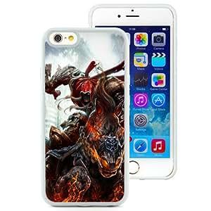 6 TPU case,Darksiders Wrath Of War War Horse Sword Fire White iPhone 6 TPU cover