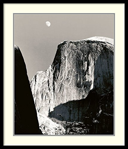 Framed Art Print, 'Moon Over Half Dome' by Ansel Adams: Outer Size 27 x 31