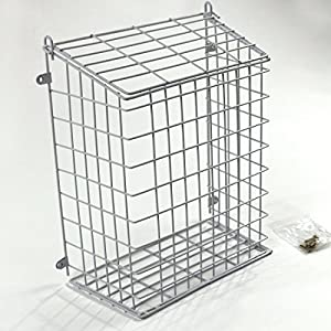 front door letter cage or mail catcher in white medium large extra large large 608