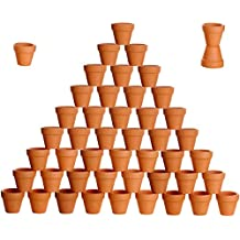 besttoyhome 48 Pcs Small Mini Clay Pots 2'' Terracotta Pot Clay Ceramic Pottery Planter Cactus Flower Pots Succulent Nursery Pots- Great Plants,Crafts,Wedding Favor
