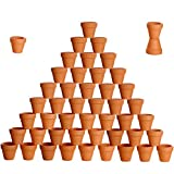 besttoyhome 48 Pcs Small Mini Clay Pots 2'' Terracotta Pot Clay Ceramic Pottery Planter Cactus Flower Pots Succulent Nursery Pots- Great Plants,Crafts,Wedding Favor