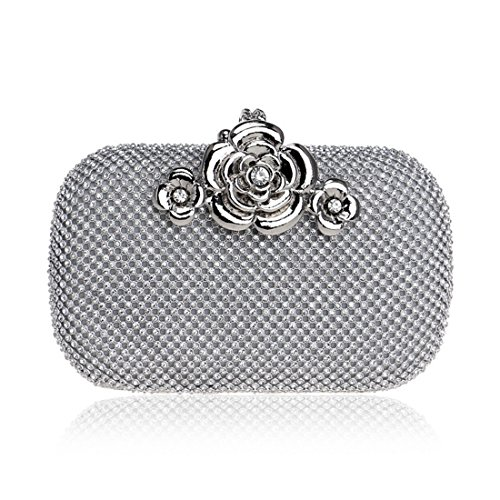 And Bag Diamonds Color bag American Bag Silver Banquet And evening Ladies Dress European Ladies Luxury Evening Clutch Fly BLACK Evening Bag Aqg1I7