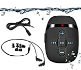 8GB swimming mp3 player with short cord headphones(3 type), one more audio extension cord for sort of sports,Shuffle feature -Black