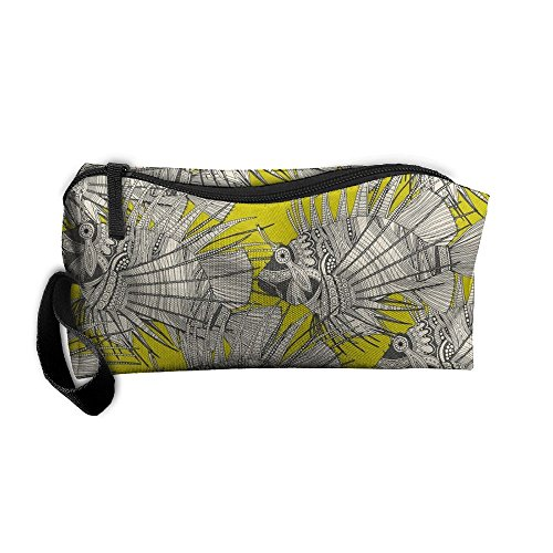 Fish Mirage Chartreuse Travel Bag Printed Multifunction Portable Toiletry Bag Cosmetic Makeup Pouch Case Organizer For Travel. (Case Mirage Plain)