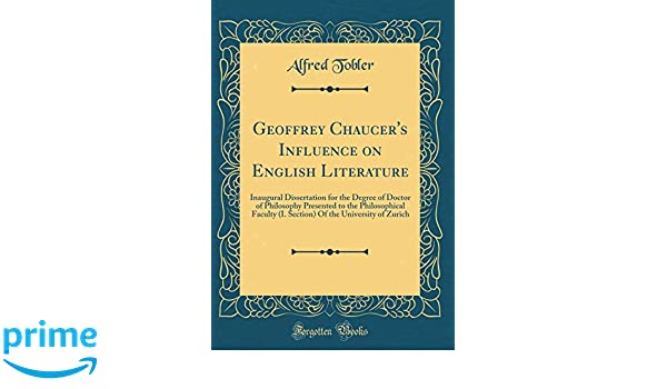 what chaucer contribution to english literature