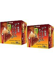 Itoen O ~ i Ocha Premium Hojicha Tea, japansk rostad grön te Hojicha, 1,8 g tepåsar, förpackning med 2 lådor (totalt 100 påsar), tillverkad i Japan