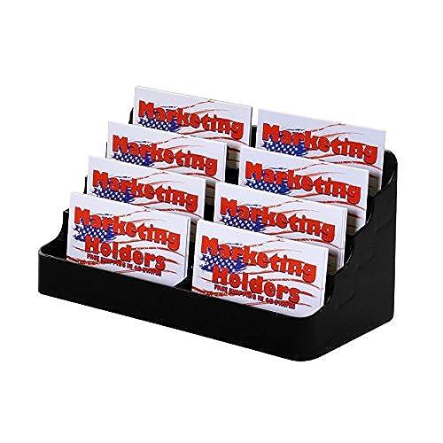 Marketing holders 8 pocket black acrylic business card holder stand marketing holders 8 pocket black acrylic business card holder stand pack of 1 durable colourmoves