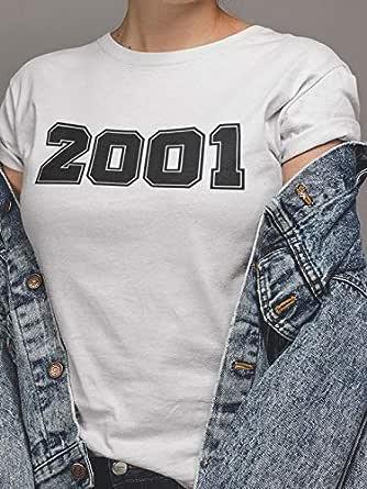 عتيق تيشيرت2001 بلايز نسائي قطن، ابيض، XXS
