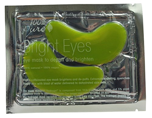 100% Pure: Bright Eyes, All Natural, Organic Mask Formulated with Caffeine to Brighten and De-Puff